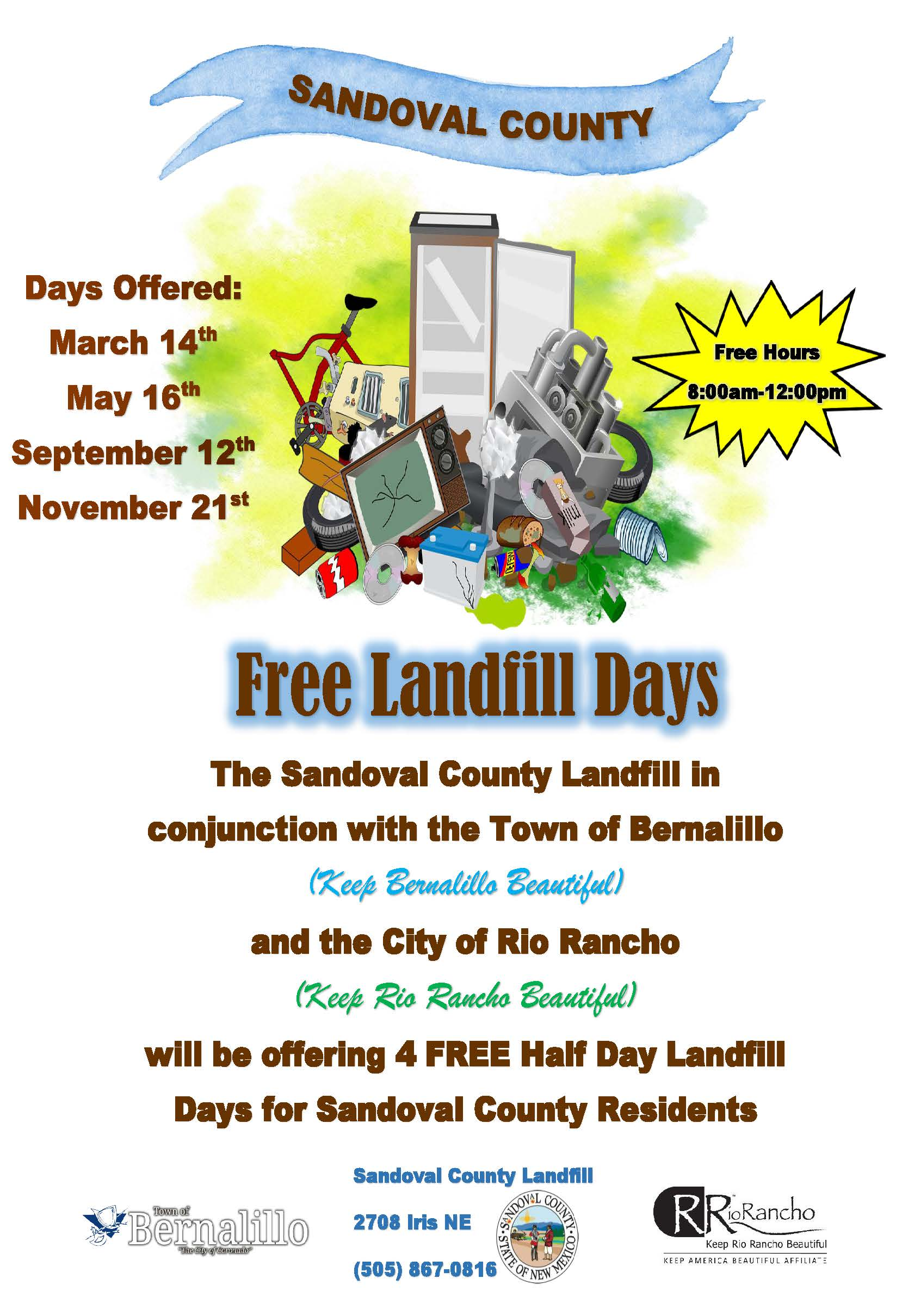Sandoval Landfill Poster for Free Use